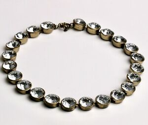 J. Crew BRÛLÉE Smokey quartz Crystal Iridescent Dots Necklace