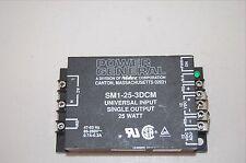 POWER GENERAL SM1-25-3DCM NIDEC AC/DC SUPPLY 12V ADJUSTABLE 25W VARIABLE INPUT