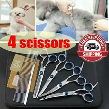 """6""""Professional Pet Dog Grooming Scissors Set Straight Curved Thinning Shears Kit"""