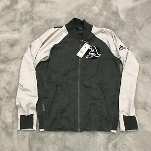 New Adidas VRCT Primeblue Dark Grey Full Zip Up Tennis Jacket Mens Small FP8121