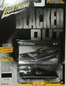 2020 JOHNNY LIGHTNING BLACKED OUT 1955 LINCOLN FUTURA  WITH RACE VERSION TIRES