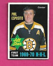 1970-71 OPC # 237 BRUINS PHIL  ESPOSITO AS EX-MT  CARD (INV# D3478)