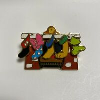 Disney DLR Cast Pin Holiday 2002 Character Christmas Stockings Fab 5
