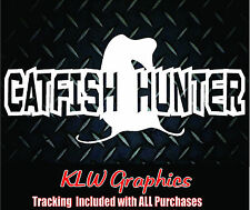 Cat Fish Hunter * Vinyl Decal Sticker Car Truck Boat BAIT Diesel 2500 Pole Dad