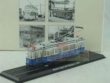 1:87 HO Scale ATLAS Tram Model Blauwe Wagen 465 Beijines 1929 Diecast