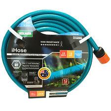 "NEW HOLMAN 15M Flexible Garden Water Hose 12MM - 1/2""  9 /10 KINK-FREE"