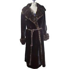Vintage Baskin Borgazia Styled by Fairmoor Black Faux Fur Coat
