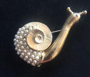 Betsy Johnson Snail Brooch
