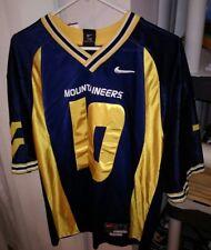 NIKE West Virginia Mountaineers #10 NCAA Football Jersey MENS ADULT M SEWN LN +2