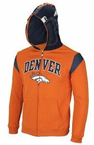 NFL Youth Denver Broncos Full Zip Helmet Masked Hoodie, Orange