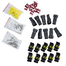 10 Kit 2 Pin Way Waterproof Rubber Electrical Wire Female Male Connector Plug GA