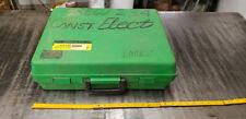 "Empty Greenlee 859 12-Place Pvc Plug Set Plastic Case w/Foam Insert, 2 thru 6"""