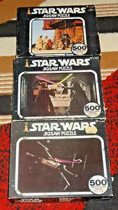 Puzzle Star Wars Vintage 1978 lot 500 pieces Space battle Duel Selling Droids
