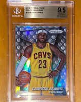 2014 LeBron James PANINI PRIZM SILVER SP PHOTO VARIATIONS REFRACTOR BGS 9.5 PSA