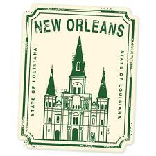 "New Orleans travel car bumper window suitcase sticker 5"" x 3"""