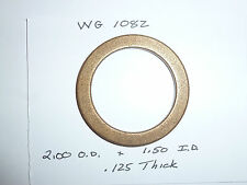 Bronze Washer, 2.000 O.D. X  1.500 I.D. X .125, Lot of 5, FREE SHIPPING, WG1082