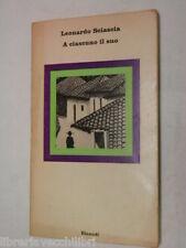 A CIASCUNO IL SUO Leonardo Sciascia Einaudi Nuovi coralli 9 1966 Libro romanzo