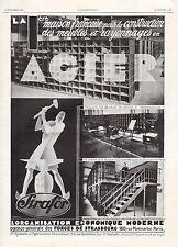 PUBLICITE  FORGES DE STRASBOURG  MATERIEL DE BUREAU  DESIGN  ART DECO  AD 1929