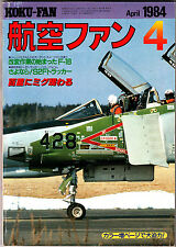 Koku-Fan Magazine April 1984 #4 Japanese Military Aircraft Wing Pendidikan No 1