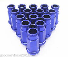 20 x Blue Racing Wheel Rim Screw Extended Lugs Nut M12 x 1.5MM For CIVIC INTEGRA