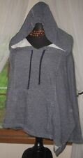 Gap Gray XL Hoodie Pullover Poncho Style Dolman Sweat Shirt French Terry