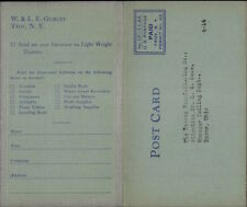 Gurley Engineering Instruments Troy Ny Fold-Open Advert Postcard