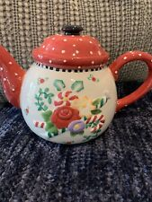 Mary Engelbreit Christmas Teapot 1999 Michel & Co
