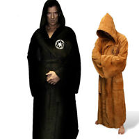 Flannel Robe Hooded Star Wars Gown Empire Cosplay Thick Men Bathrobe Nightgowns