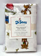 NEW Pottery Barn KIDS Dr. Seuss The Grinch & Max Flannel STANDARD Christmas Sham