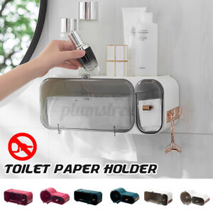 Bathroom Toilet Paper Holder Multifunction Wall Tissue Box Waterproof Storage