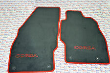 GENUINE Vauxhall CORSA D (07-14) CAR FLOOR / CARPET MAT SET - RED & BLACK - NEW
