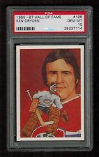 PSA 10 KEN DRYDEN 1985 Hall of Fame Hockey Card #196