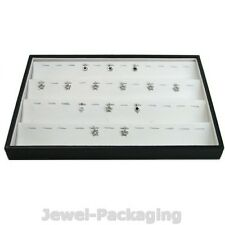 "13.8"" White Jewelry Shops Retail Display Stand Pendant Box Tray Case Organizer"