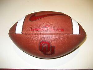 2020 Oklahoma Sooners GAME BALL Nike Vapor Elite Football SEWN STRIPES Univ
