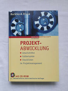 Projektabwicklung. Von Burkhard Klose. Neuwertig, CD-ROM enthalten und unbenutzt