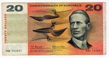 1966 Commonwealth of Australia Coombs/Wilson $20 Note - First Prefix XAA 103831