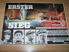 ERSTER SIEG - Kinoplakat A0 Quer 70er - JOHN WAYNE Kirk Douglas
