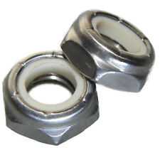 1/4-20 Jam Hex Nuts, Stainless Steel 18-8, Nylon Locking, Qty 100