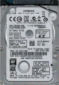 HTS545050A7E380 P/N: 0J23475 MLC: DA4847 Hitachi 500GB