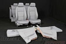 >BMW 1er E82 Coupe elktr Sportsitze Leder Lederausstattung Innenausstattung grau