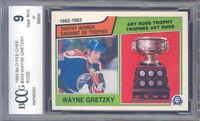 1983-84 o-pee-chee #204 WAYNE GRETZKY ross edmonton oilers BGS BCCG 9