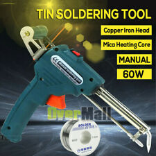 Heavy Duty US 110V 60W Hand-held Auto Send Tin Heat Soldering Welding Gun Kit
