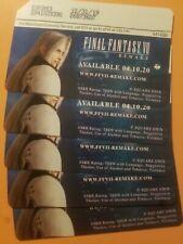 Final Fantasy VII Remake Playstation PS4 Metrocard Sephiroth 2 of 2 Card Set