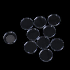 10Pcs 33mm plastic round applied clear cases coin storage capsules holder_ma