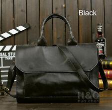 Men Portfolio Business Case PU Leather Briefcase Laptop Shoulder Messenger Bag