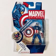 """2008 Marvel Universe 3.75"""" #012 Series 1 Captain America Action Figure By Hasbro"""