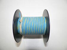100 FOOT SPOOL 16 GAUGE GXL HI TEMP WIRE LT BLUE/YELLOW STRIPE AUTOMOTIVE   FEET