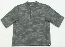 Green Thermal Tee T-Shirt Top Long Sleeve Cotton Small Eddie Bauer Camouflage