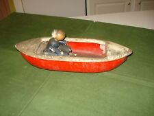 1930's/40's Coast Guard Boat Pull Toy, Pressed Steel
