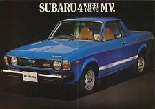 SUBARU 1600 4WD MV PICK UP 1979-80 ORIGINALE UK singolo foglio BROCHURE DI VENDITA